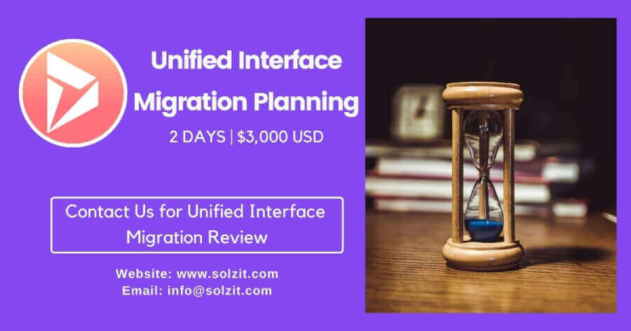 Unified Interface Migration Solzit