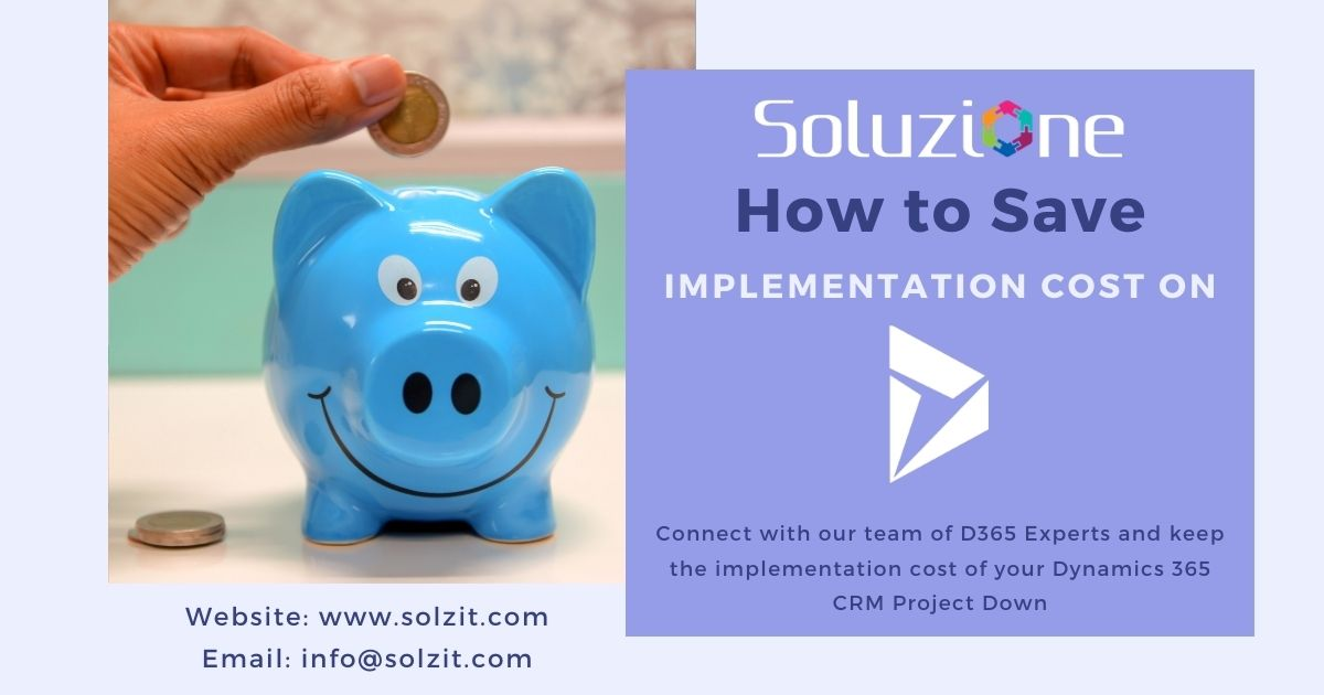 Save Implementation Cost on Dynamics CRM Project
